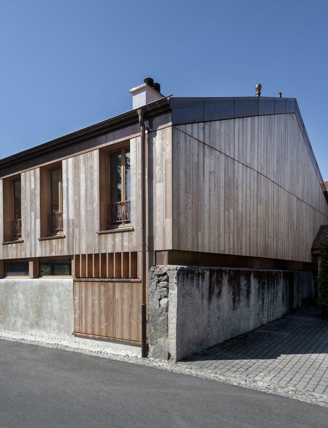 Valentine Bärg Architectures Geneva Village Wooden House 13