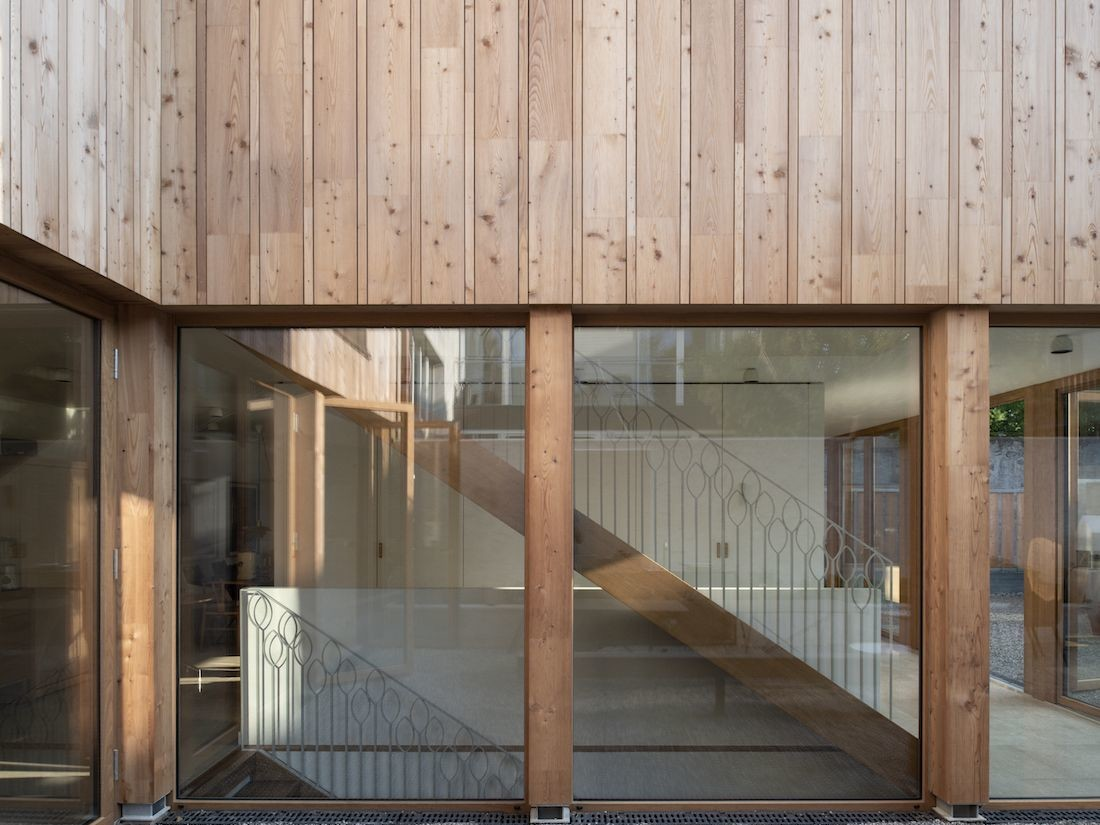 Valentine Bärg Architectures Geneva Village Wooden House 10