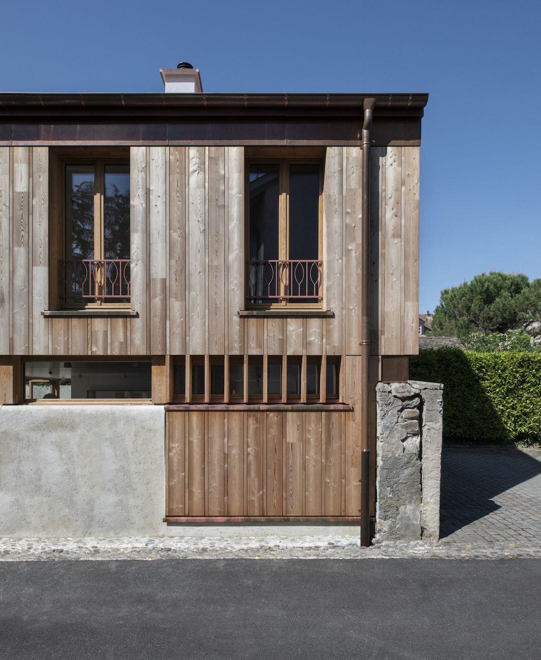 Valentine Bärg Architectures Geneva Village Wooden House 14